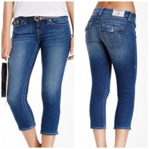 True Religion rolled Capri with flap pockets 27